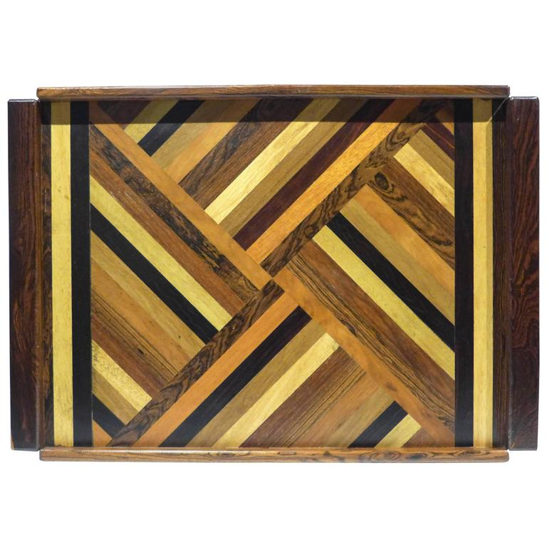 Don Shoemaker Marquetry Tray For Sale