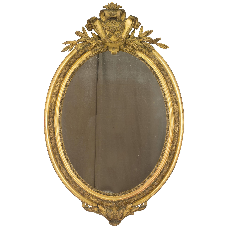 French Napoleon III Gilded Mirror