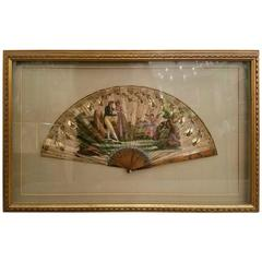 19th Century French Hand-Painted Fan