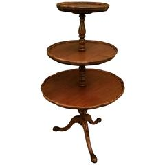 Queen Anne Mahogany Three-Tier Dumbwaiter