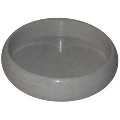 Round White Marble Tray, India, Contemporary
