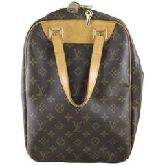 Louis Vuitton Vintage LV Monogram Excursion Travel Shoe Bag w/ Padlock & Dustbag