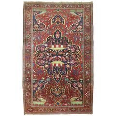 Antique Persian Sarouk Ferehan Scatter Rug