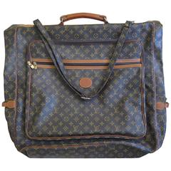 Louis Vuitton Vintage Iconic LV Logo Monogram Fold over Large Garment Bag