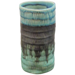 Textured Small Blue Vase, Thailand, Contemporary