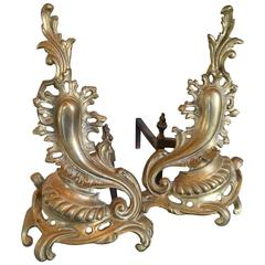 Louis XV Style Chenets/ Andirons