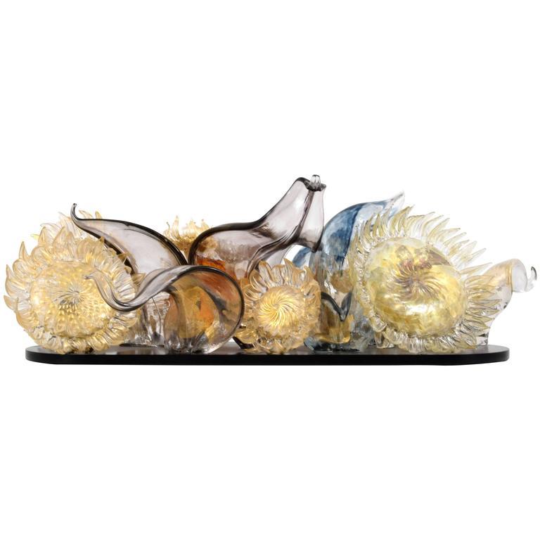Spectacular Art Glass Sculpture by Martin Blank