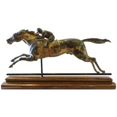 J.W. Fiske Horse and Jockey Weathervane, circa 1890