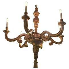 Italian Louis XVI Fashioned Six Light Large Chandelier