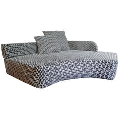 Italian Modern Black and White Pattern Removable Cover Corner Lounge