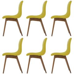 Set of Six Chairs C59 by René Jean Caillette, Charron Edition, 1960
