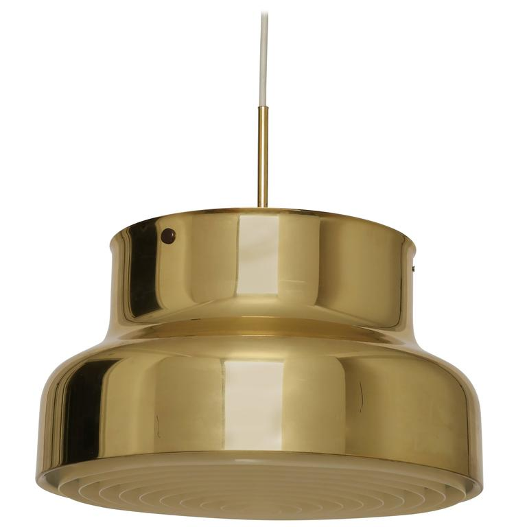 "Ateljé Lyktan Ceiling Pendant ""Bumling"" in Brass"