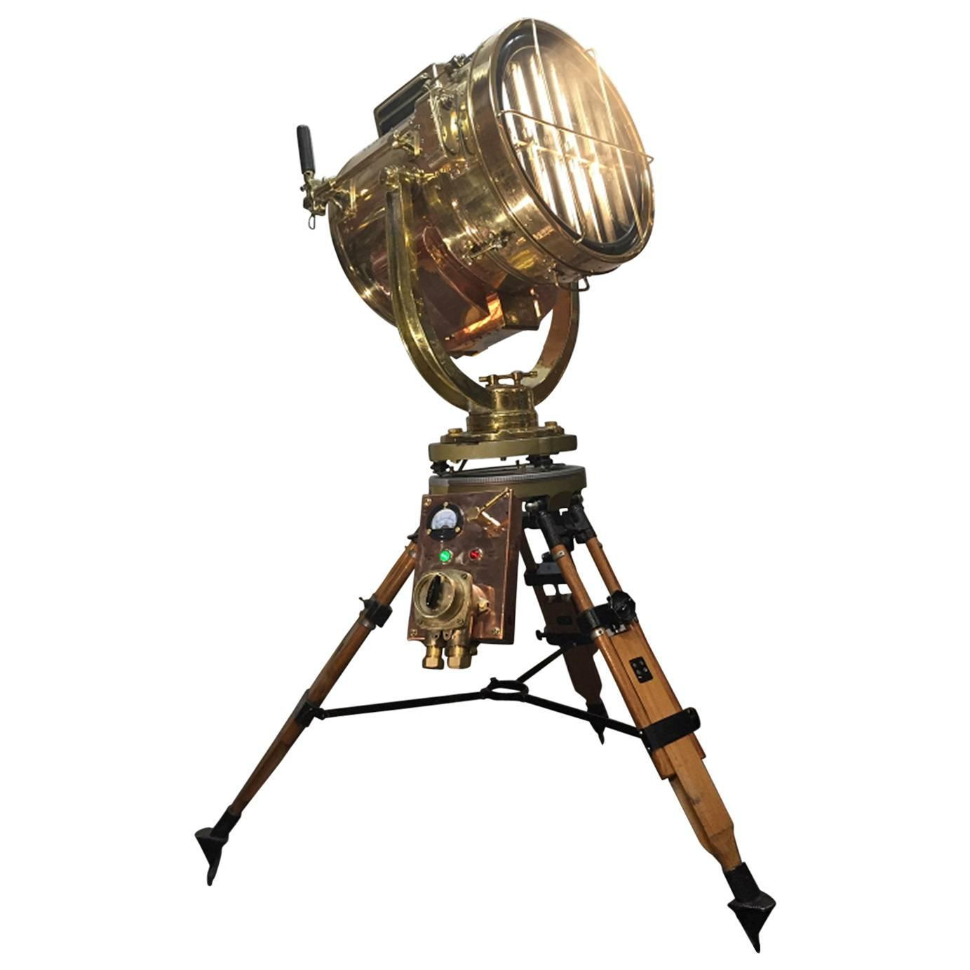 asian floor lamps   for sale at stdibs - th century copper amp brass signalling floor lamp and militarygyroscope tripod