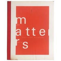 """Matters, 1988-1997 – Noritoshi Hirakawa"" Book"