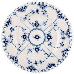 12 Plates Royal Copenhagen Blue Fluted Lunch Plates Number 1085