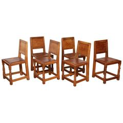 "Set of Six Robert ""Mouseman"" Thompson Chairs"