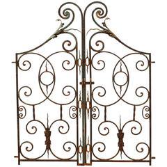 Pair of Ornate Wrought Iron Pedestrian Gates