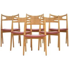 Set of Dining Chairs by Hans J. Wegner, 1952