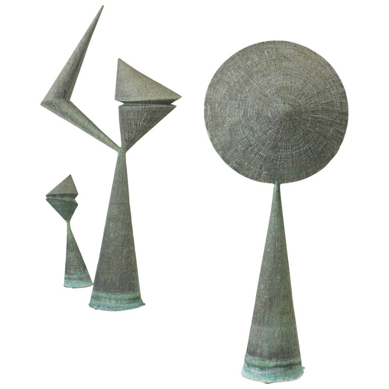 Harry Bertoia Sculptures from Stemmons Towers Sculpture Garden, Dallas 1964