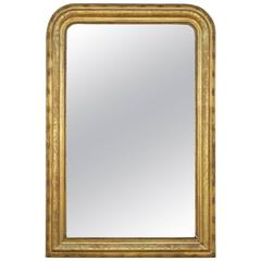 19th Century French Gold Leafed Louis Philippe Mirror