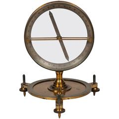 Brass Magnetic Dip Circle by J J Griffin & Sons of London, Late 19th Century