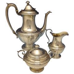 Old Colonial Towle Sterling Silver Tea Set 3-Pc Coffee Sugar Creamer Hollowware