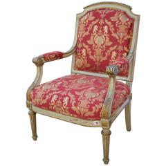 19th Century French Louis XVI Style Fauteuil