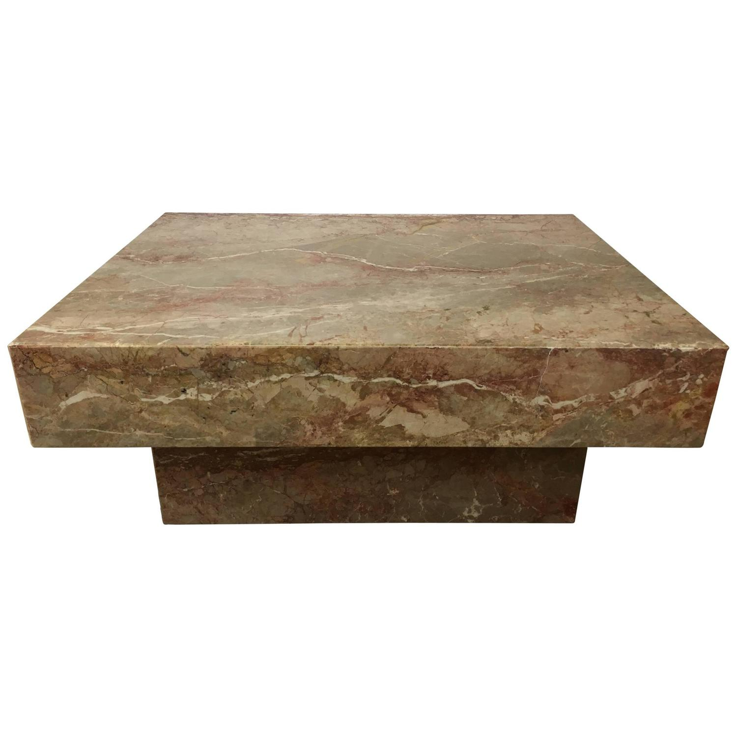 Substantial rectangular marble cocktail table for sale at for Cocktail tables parts