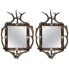 Pair of 17th Century Antler Mirrors Found in Bavarian Hunting Lodge