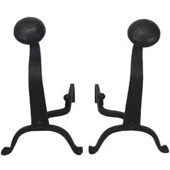 Pair of Hand-Forged Andirons