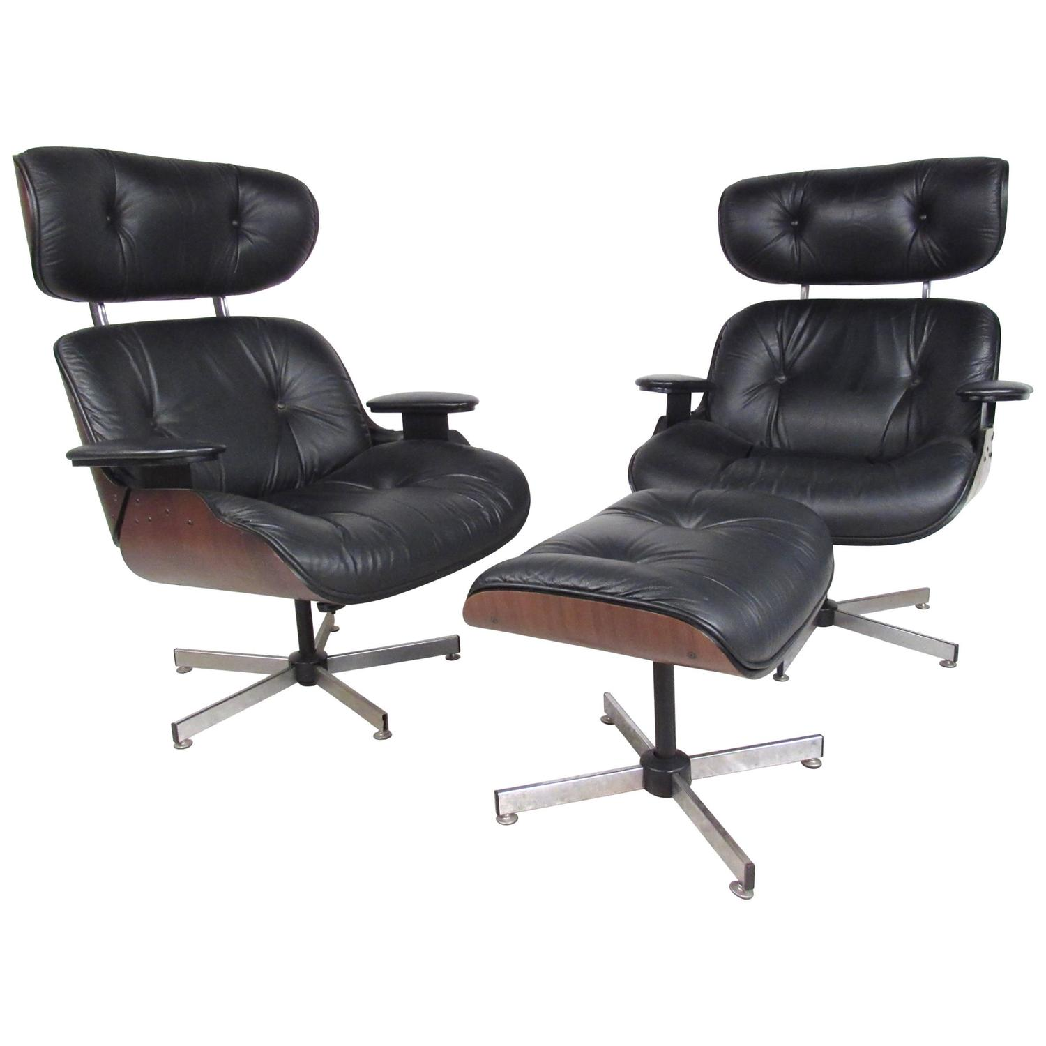pair of mid century modern eames style lounge chairs by plycraft furniture chairs ply white bedroombreathtaking eames office chair chairs