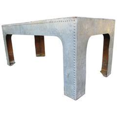 English Stockade Tank Galvanized Table