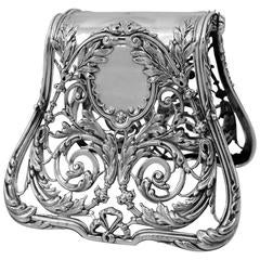 Debain Fabulous French All Sterling Silver Asparagus/Sandwiches Grip Rococo