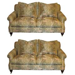 Pair of Edward Ferrell Signed Loveseats