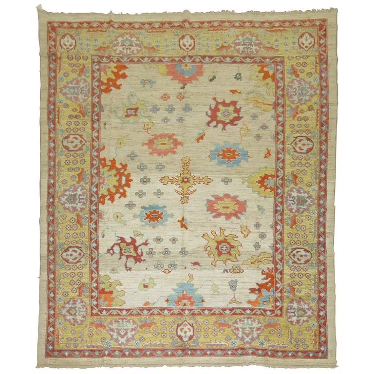 Vintage Inspired Oushak Carpet For Sale At 1stdibs