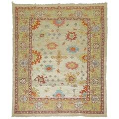 Vintage Inspired Oushak Carpet