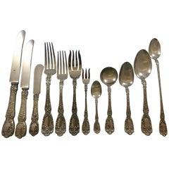 Florentine by Gorham Sterling Silver Flatware Service for 12 Set Dinner 195 Pcs