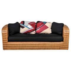Rare Karl Springer Pullman Sofa, circa 1985