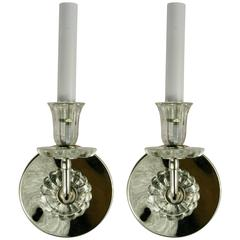 Pair of Glass Tulips Sconce