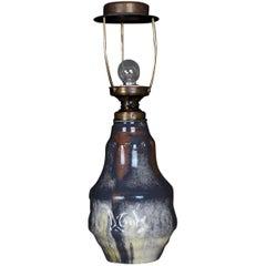 Large Höganäs Table Lamp in Ceramic, Art Nouveau, circa 1930