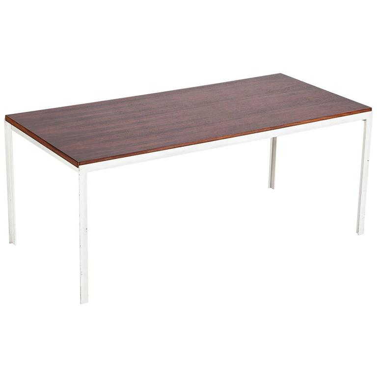 Florence Knoll Coffee Table Rosewood TAngle Iron 1956 For Sale