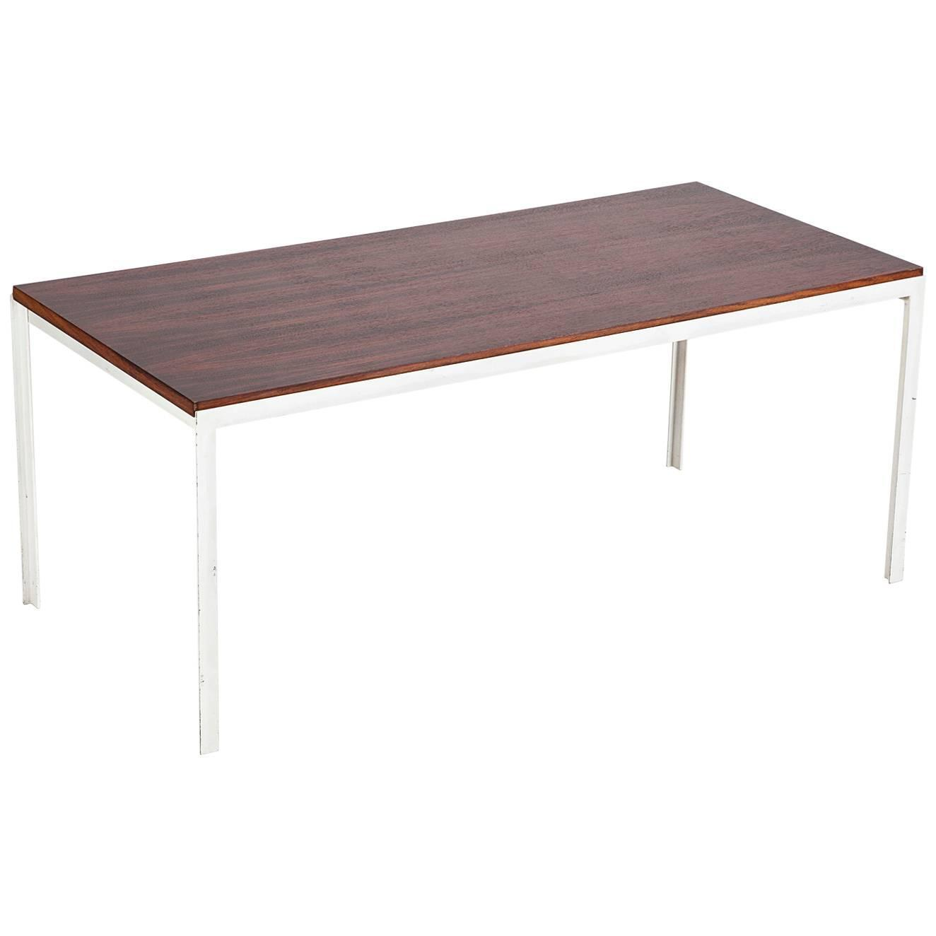 Florence knoll coffee table rosewood t angle iron 1956 Florence knoll coffee table