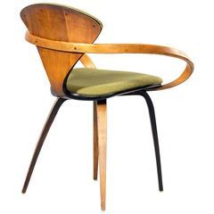 Norman Cherner Plycraft USA Armchair Walnut / Fabric, 1965