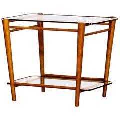 1950s, Cees Braakman for Pastoe, Teak/Glass Servingtable