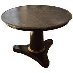 Italian Empire Original Bardiglio Marble-Top, Round Table