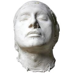Good Mid-20th Century Plaster Death Mask of a Young Gentleman