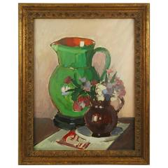 Two Pitchers Still Life Painting