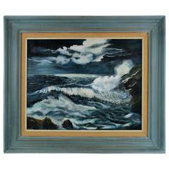 """""""Moonlit Sea"""" Painting"""