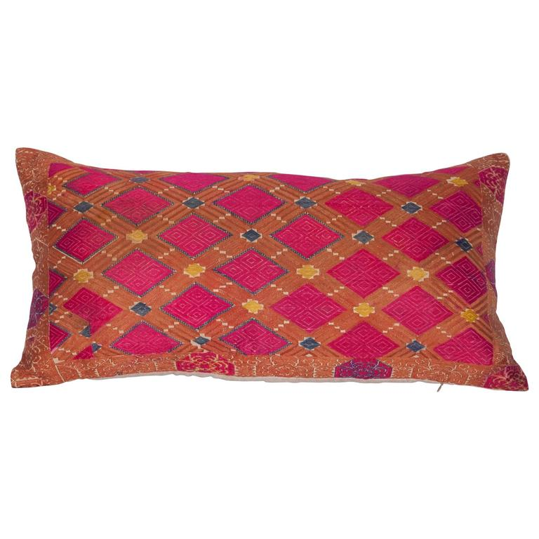 Pillow Made Out of a 1930s Swat Embroidery