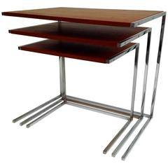 Very Nice and Rare Nesting Side Tables, Anno, 1960
